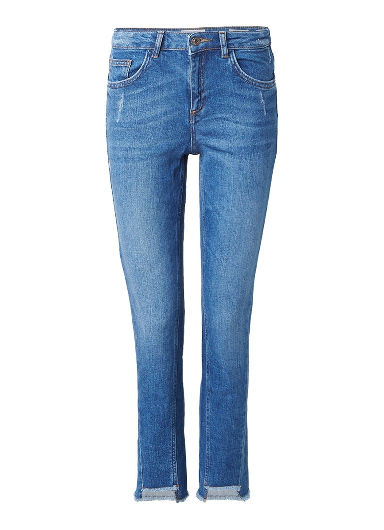 America Today Jess high rise skinny jeans met destroyed details