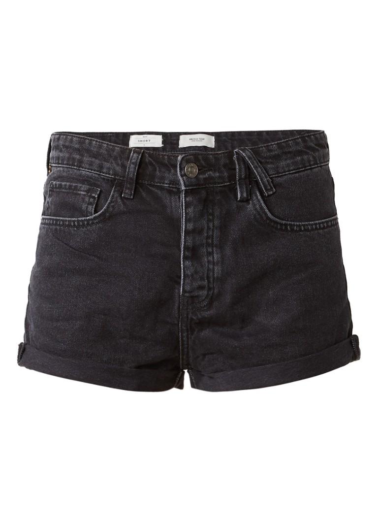 America Today Nori denim shorts met omgeslagen broekspijp