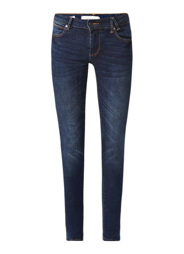 America Today Jane mid waist super skinny jeans met donkere wassing