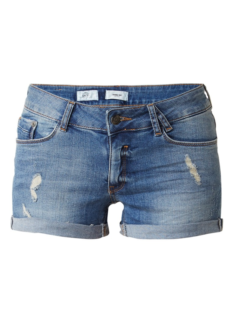 America Today Lacey denim shorts met omslag