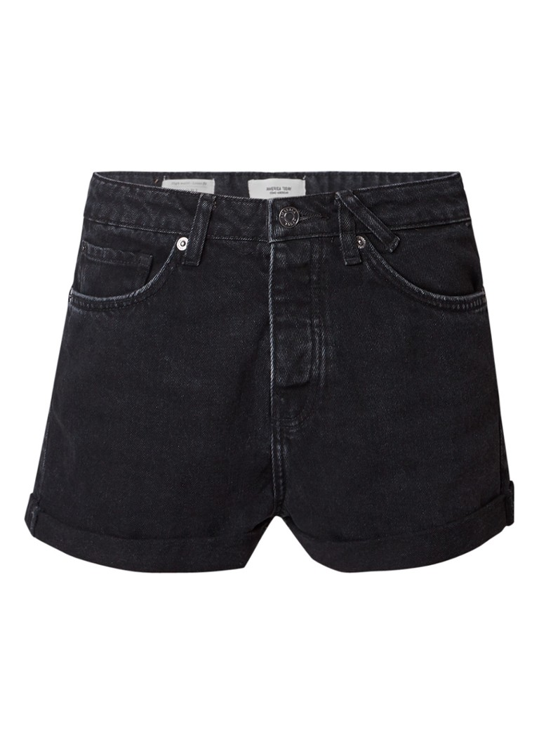 America Today Nori high rise loose fit denim shorts