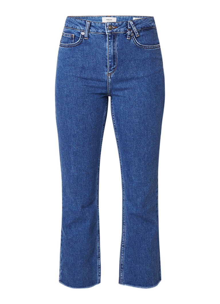 America Today Jazzy high rise cropped jeans met gerafelde zoom