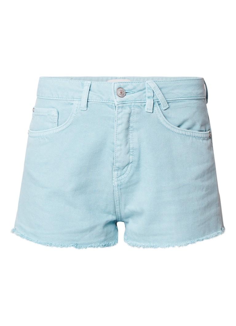America Today Nori denim shorts met gerafelde zoom