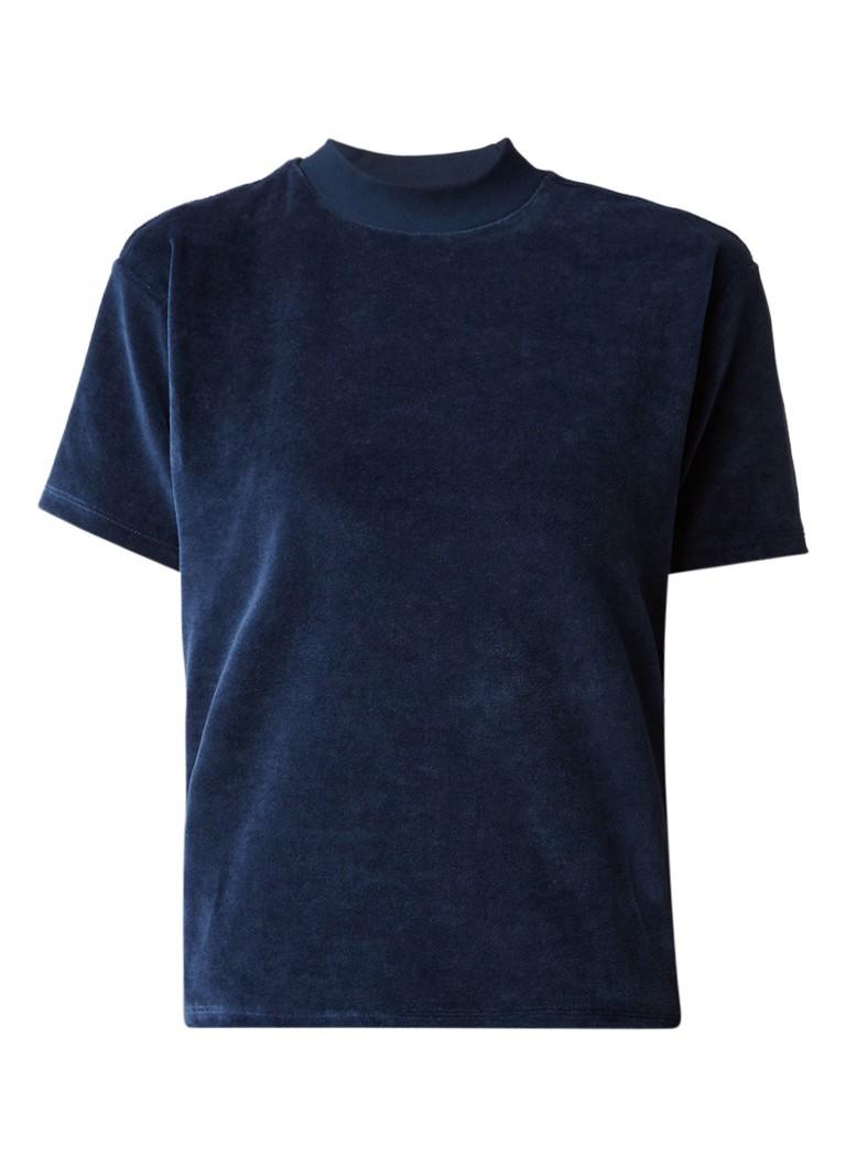 America Today Elisa boxy T-shirt van fluweel