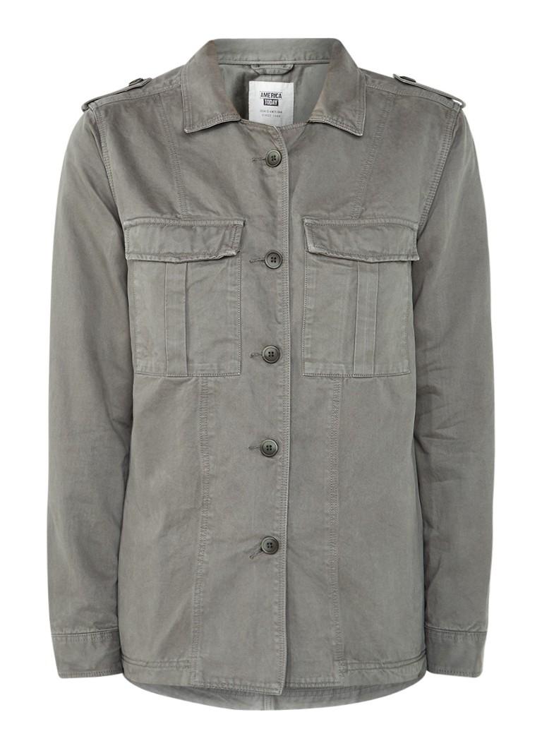 America Today Baylee field jacket van katoen met klepzakken