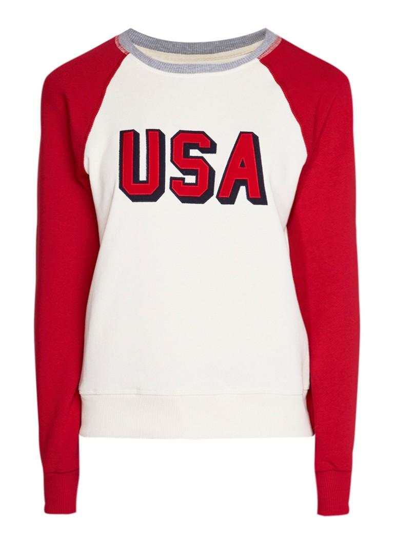 America Today Symone sweater met tekstopdruk