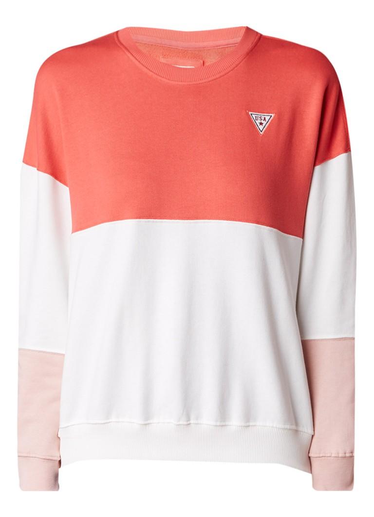 America Today Semy sweater met colour blocking