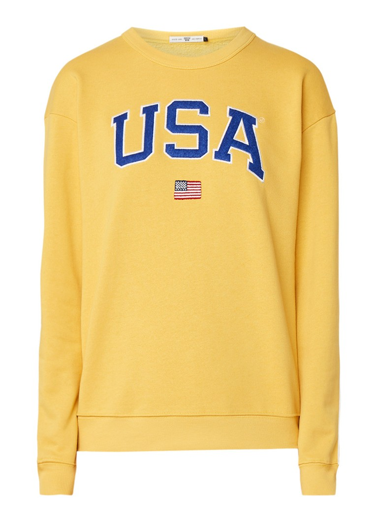 America Today Sweater met USA tekstapplicatie
