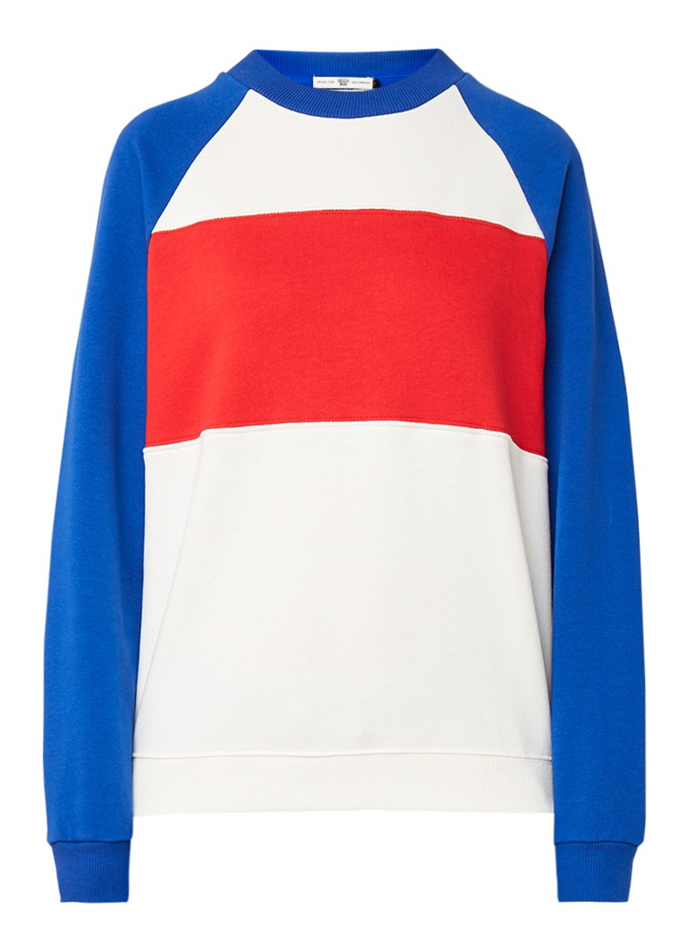 America Today Sylvia sweater met colour blocking