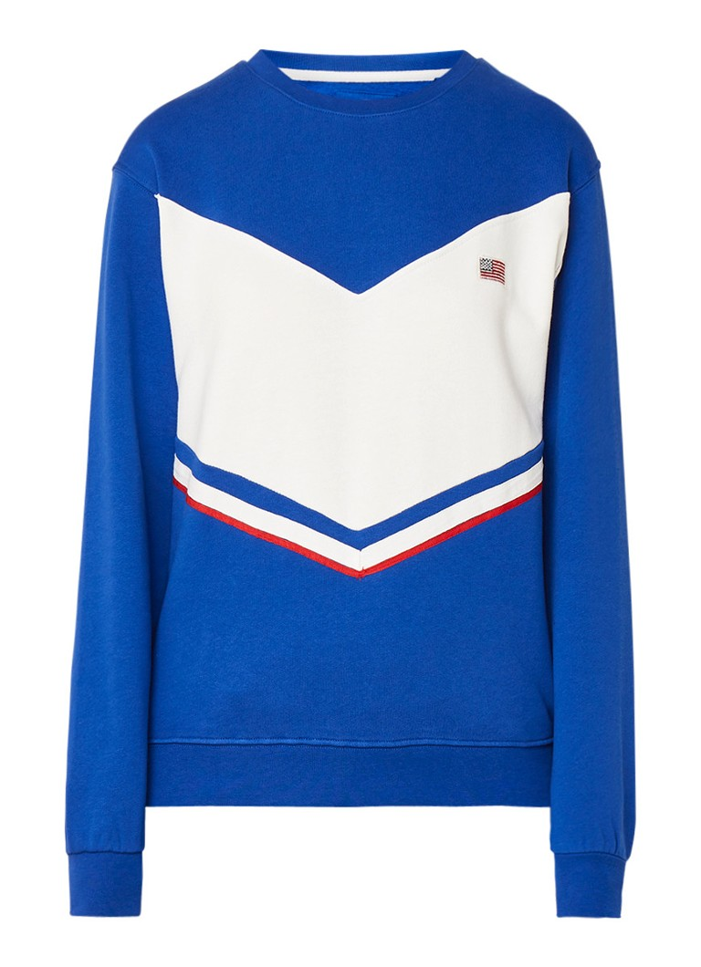 America Today Semmy sweater met colour blocking