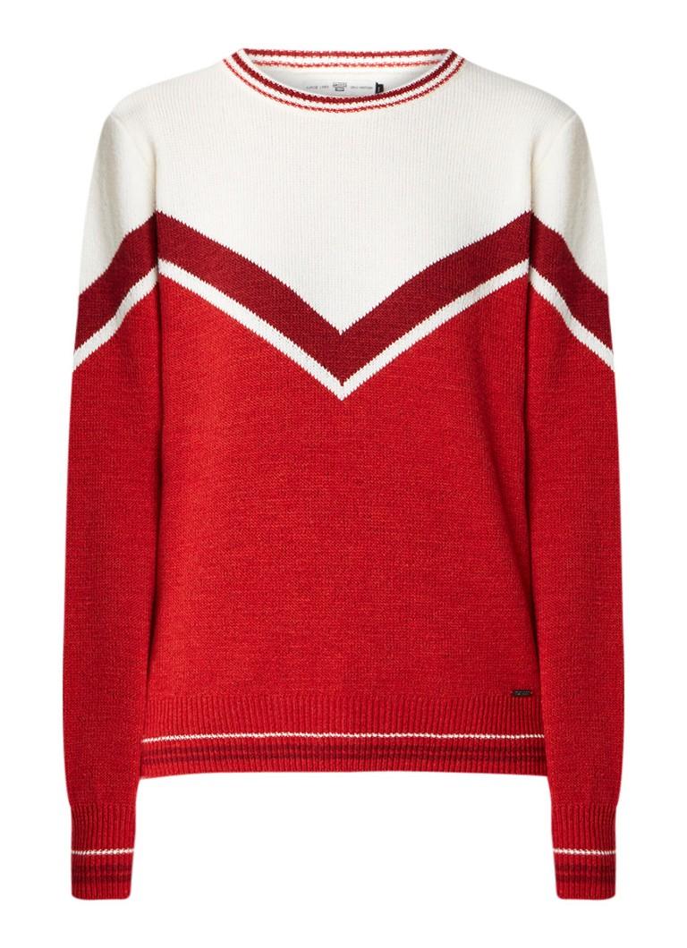 America Today Koko fijngebreide pullover met colour blocking