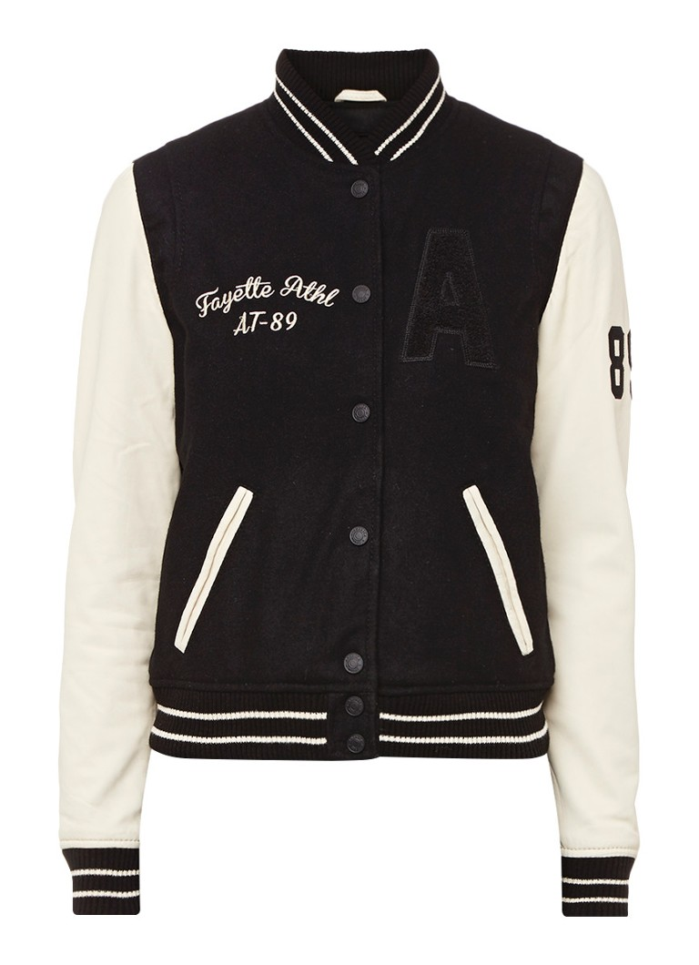 America Today Jessie college jacket mouwen van schapenleer
