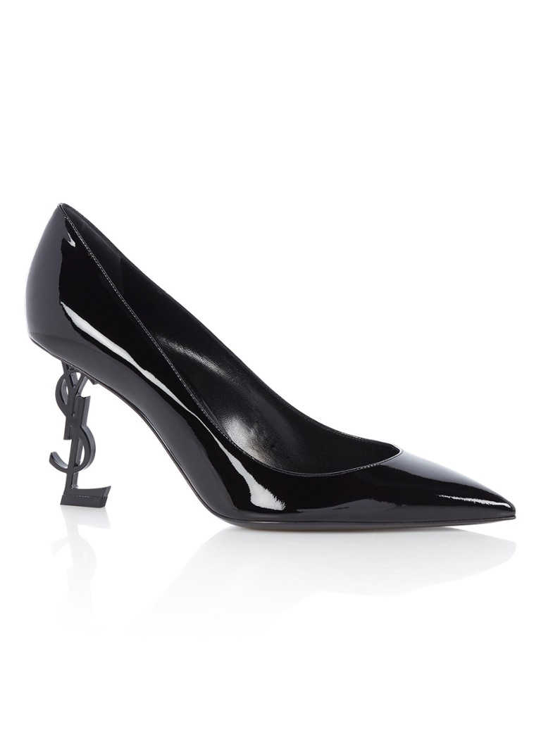 Saint Laurent Opyum 85 pump van lakleer