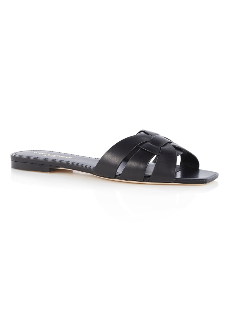 Saint Laurent Nu Pieds 05 slipper van kalfsleer