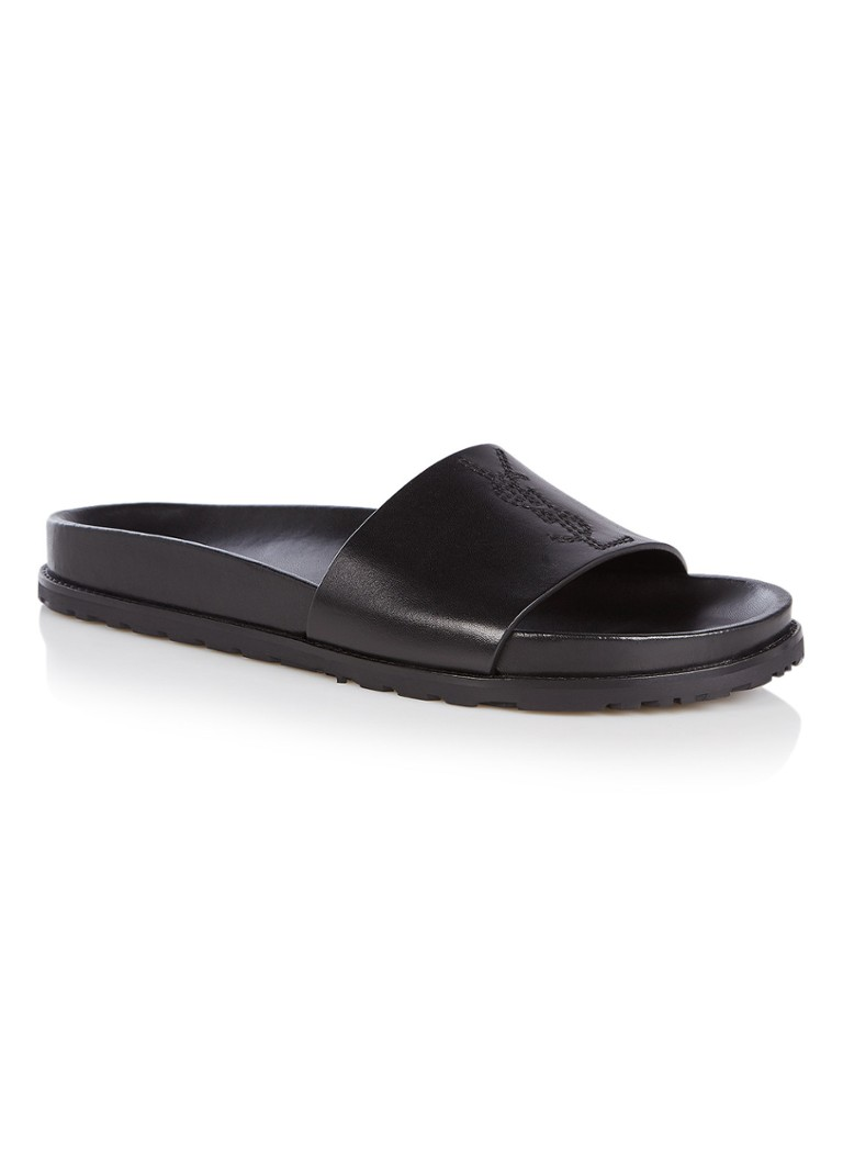 Saint Laurent Jimmy slipper van kalfsleer met logo