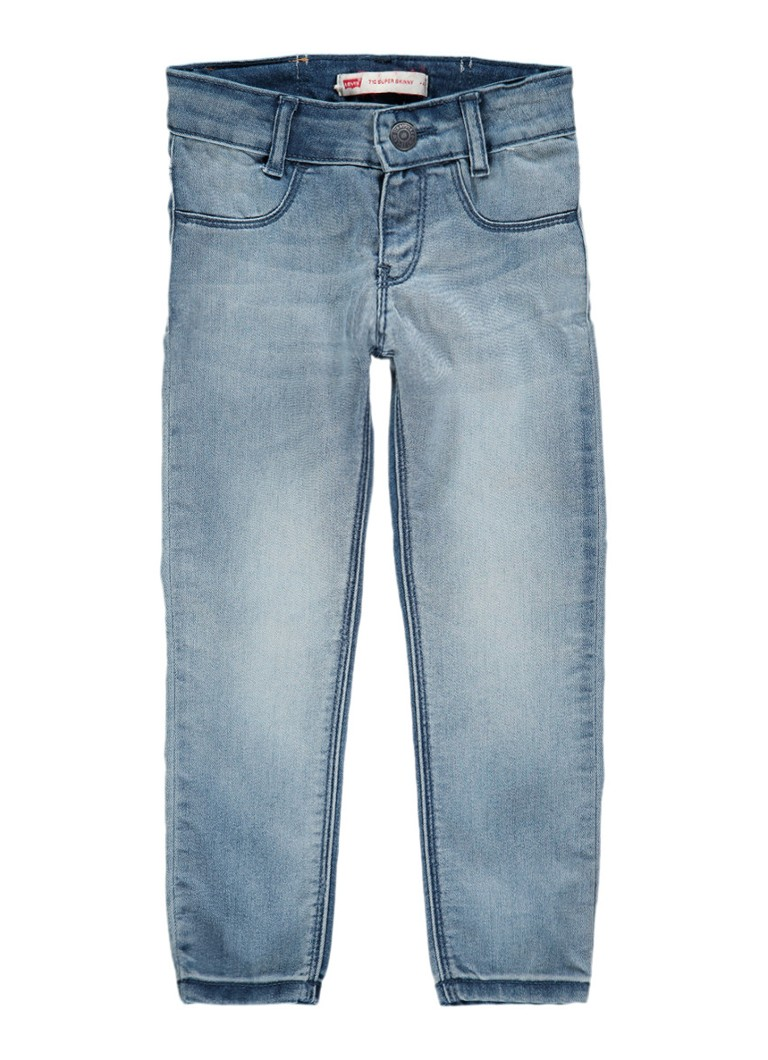Levi's 710 superskinny fit jeans met faded look
