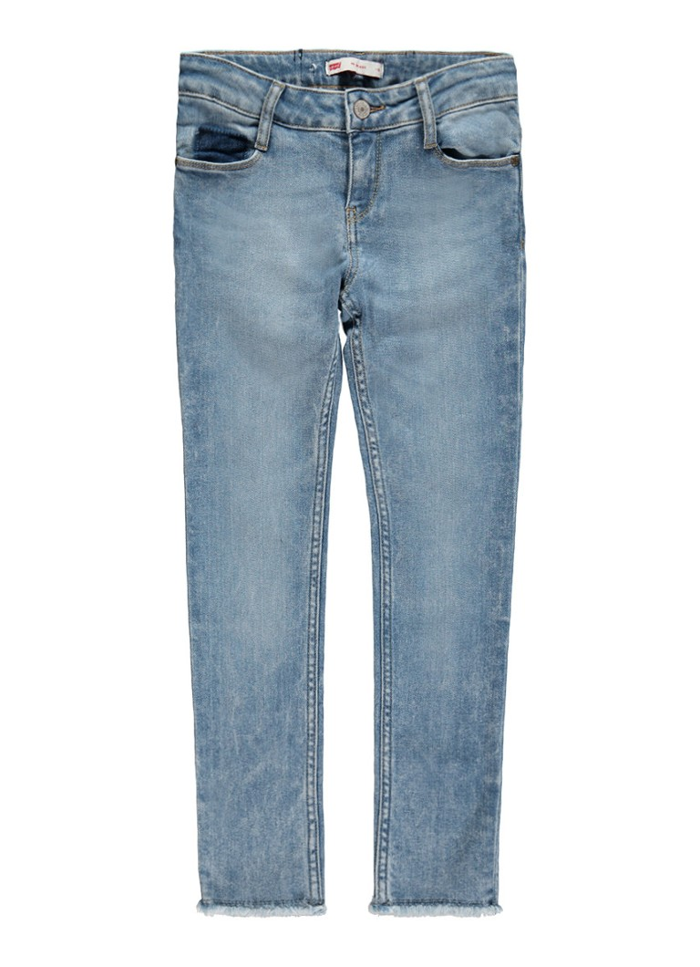 Levi's 711 skinny fit jeans in lichte wassing