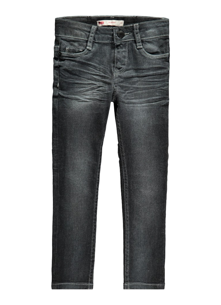 Levi's 711 Skinny fit jeans met faded look