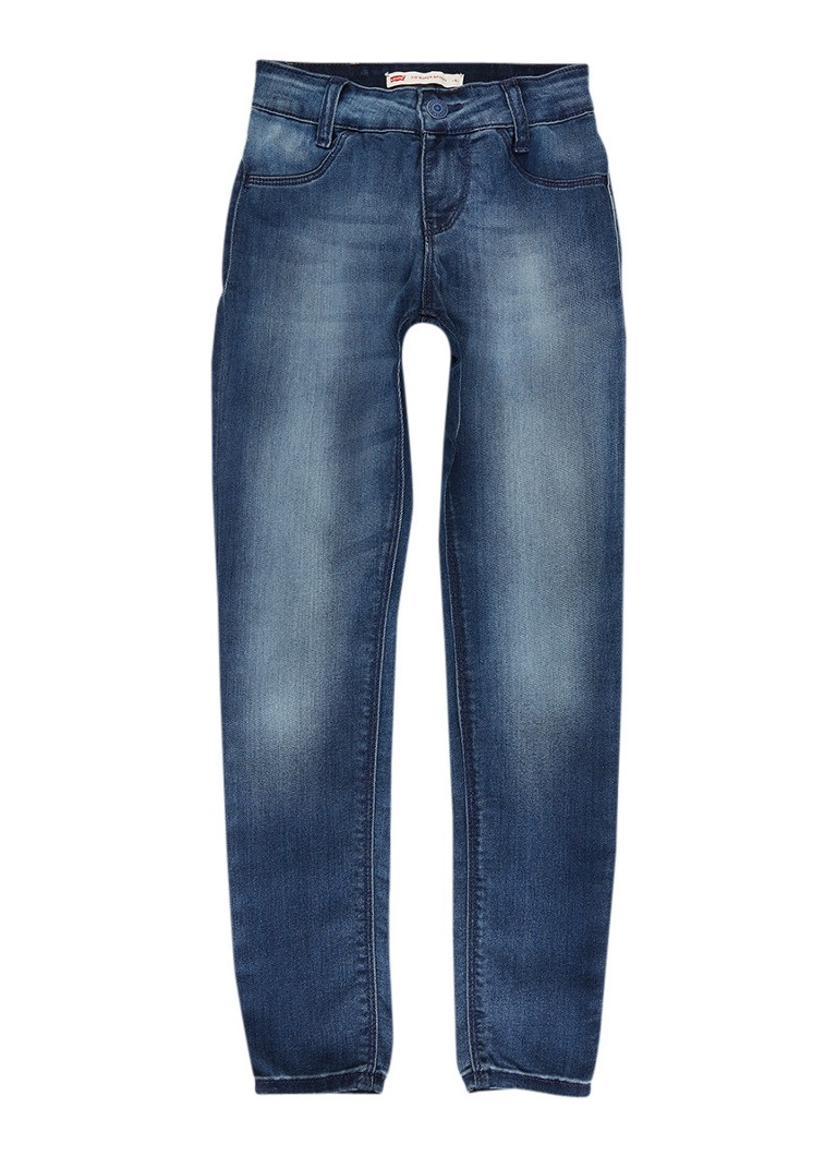 Levi's 710 super skinny fit jeans met faded look