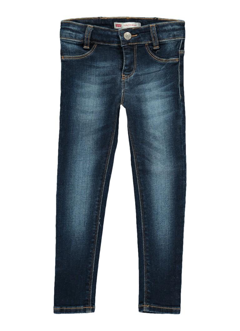 Levi's 710 super skinny fit jeans met verwassen look