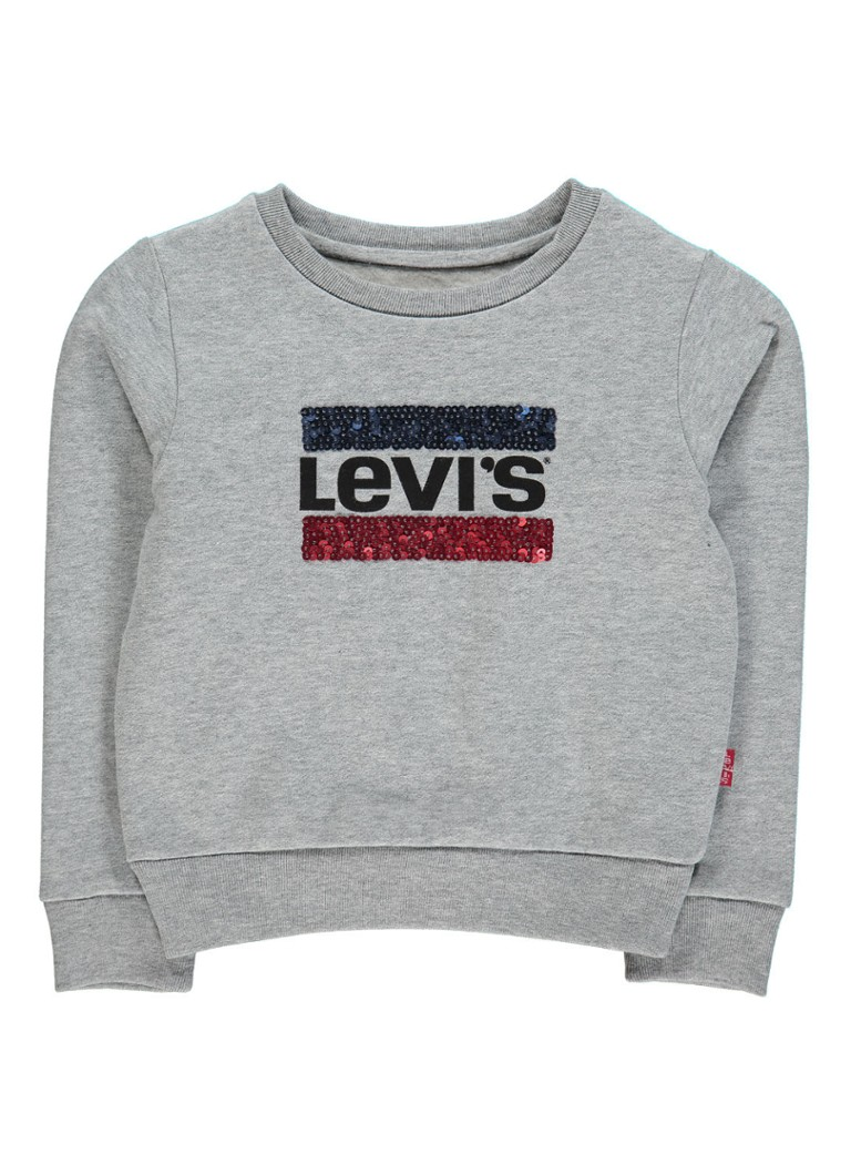 Levi's Billie sweater met logoprint van pailletten