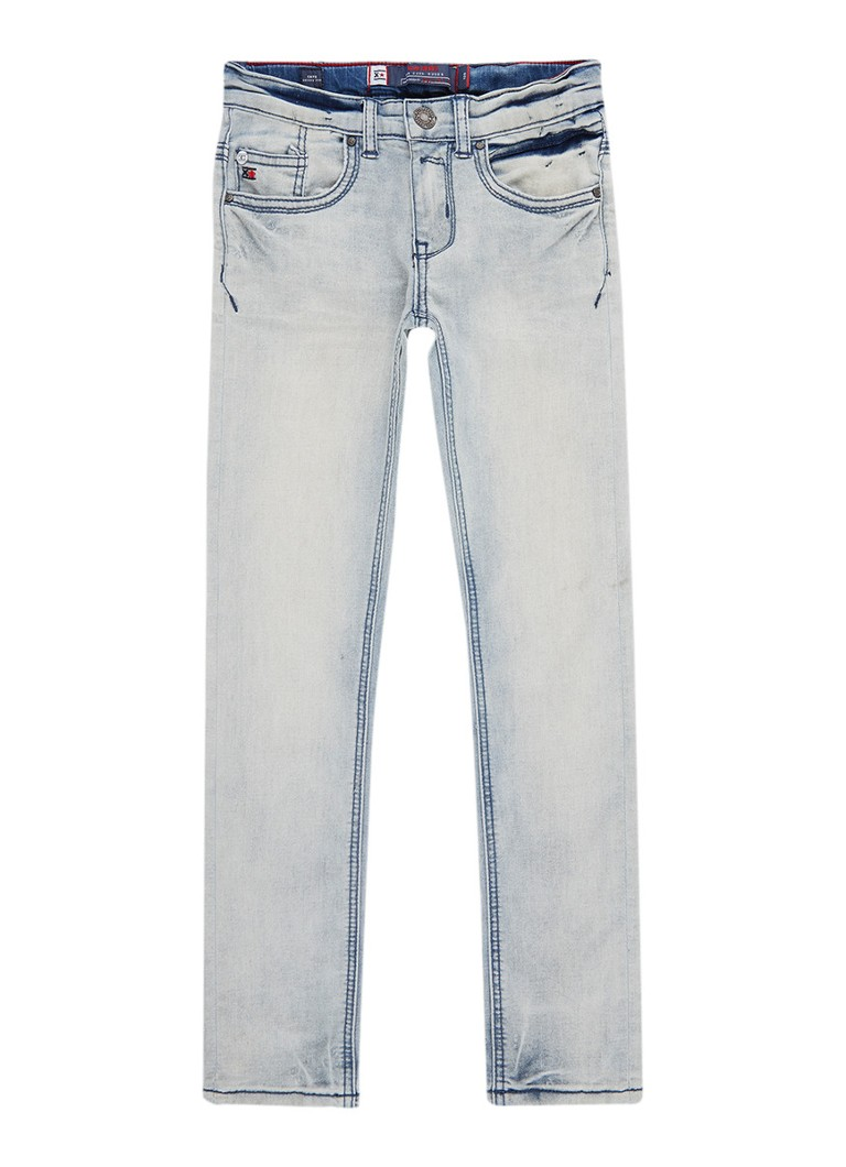 Blue Rebel Cave skinny fit jeans met faded look