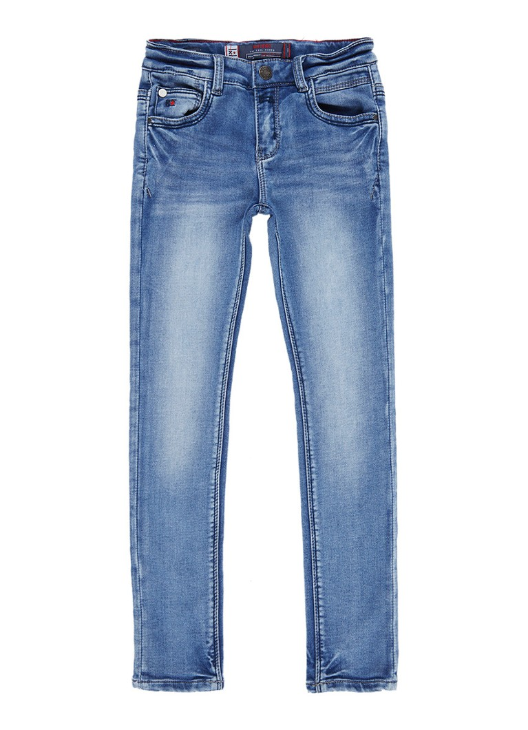 Blue Rebel Minor skinny comfort fit jeans met faded look