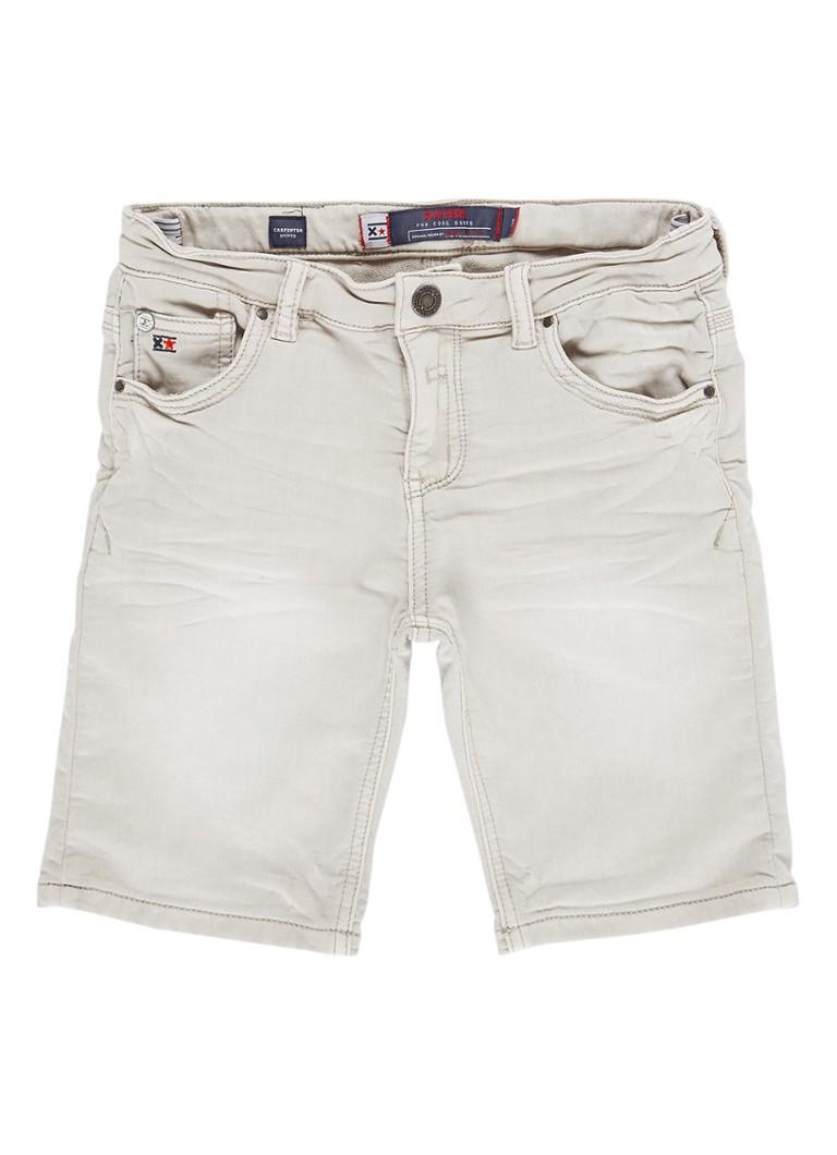 Blue Rebel Carpenter denim shorts met stretch