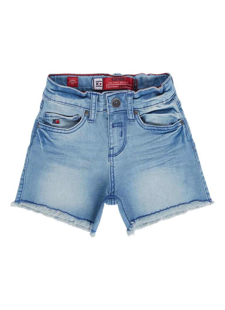 Blue Rebel Girls denim shorts met onafgewerkt detail