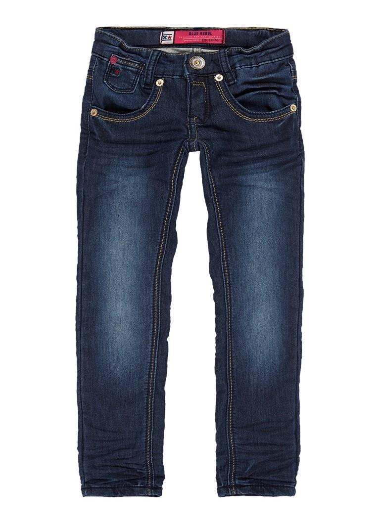 Blue Rebel Calciet super skinny fit jeans met donkere wassing