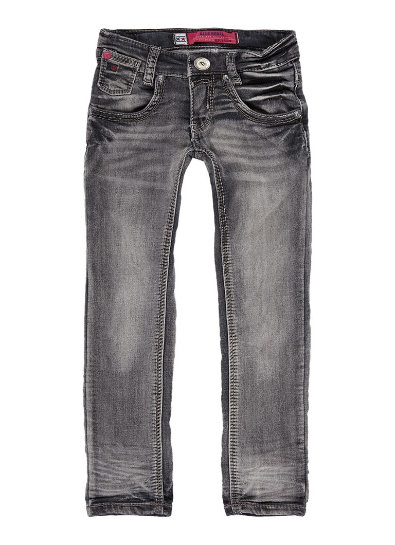 Blue Rebel Calciet super skinny fit jeans met medium wassing