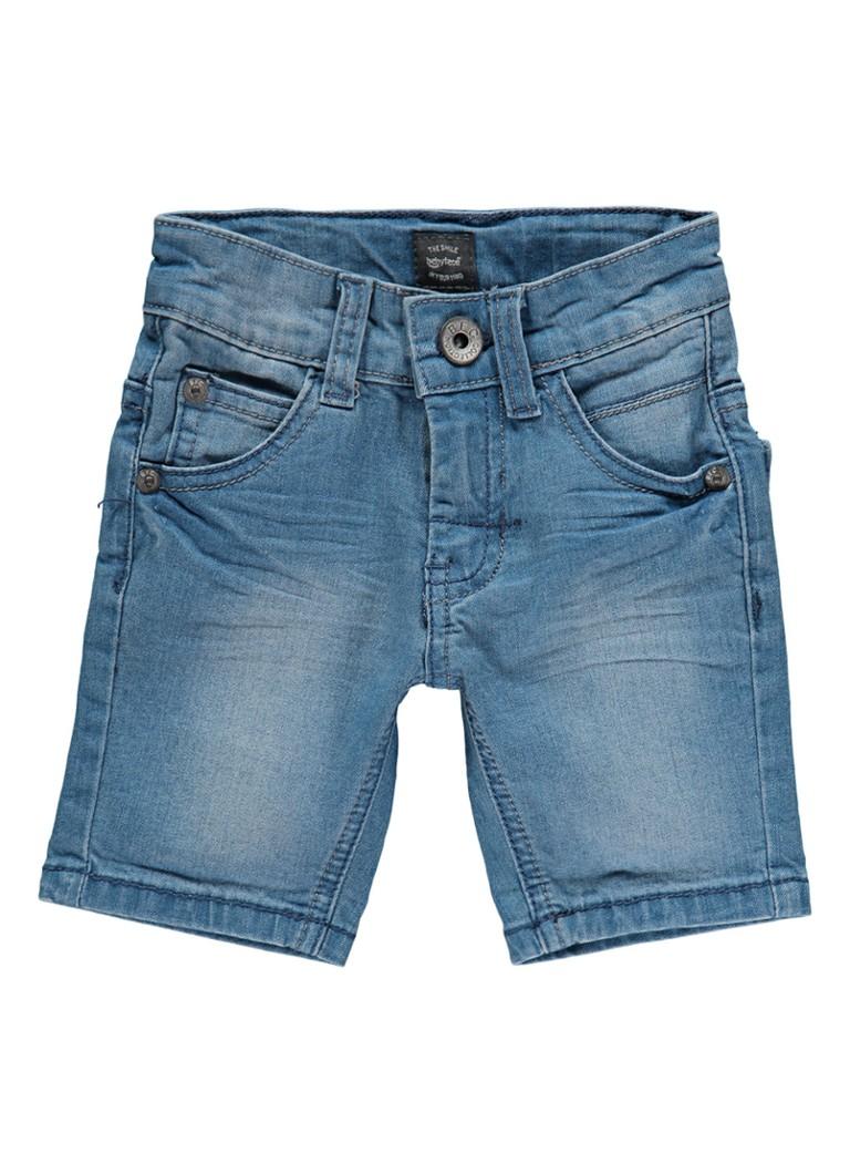Babyface Wolf denim shorts met stretch
