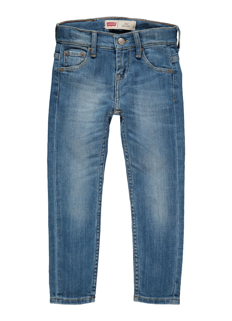 Levi's 512 slim tapered fit jeans met faded look