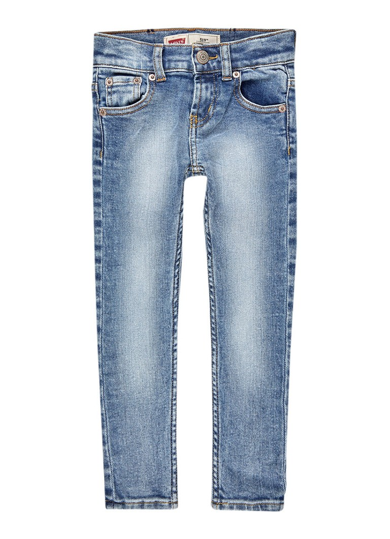 Levi's 519 extreme skinny fit jeans met lichte wassing