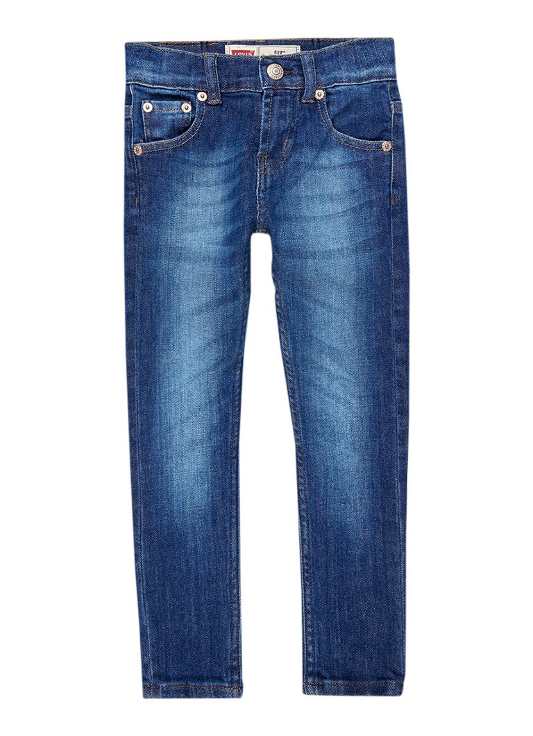 Levi's 519 extreme skinny fit jeans met medium wassing