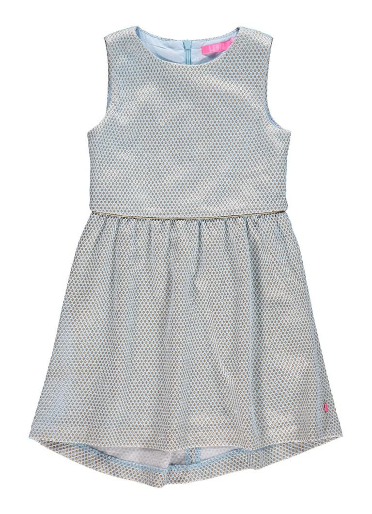 LE BIG Ireen A-lijn jurk met lurex dessin