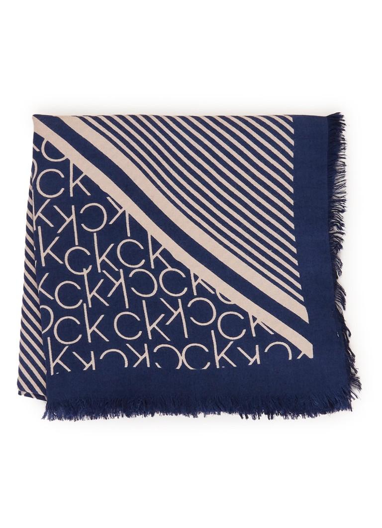Calvin Klein Sjaal met logodessin 120 x 110 cm
