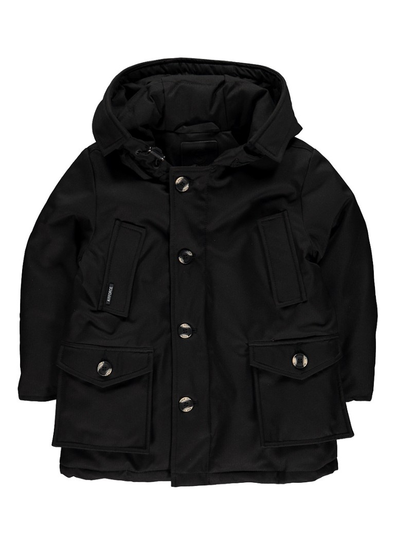 Image of Airforce Gewatteerde jas met afneembare capuchon