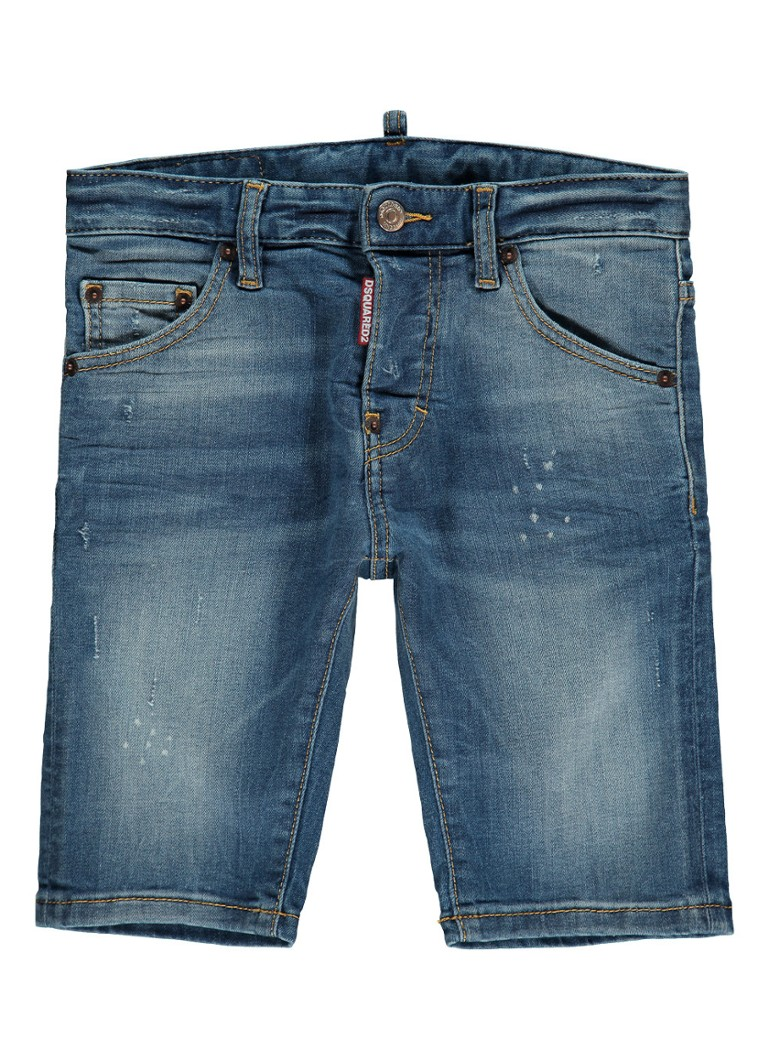 Dsquared2 Denim shorts met faded look