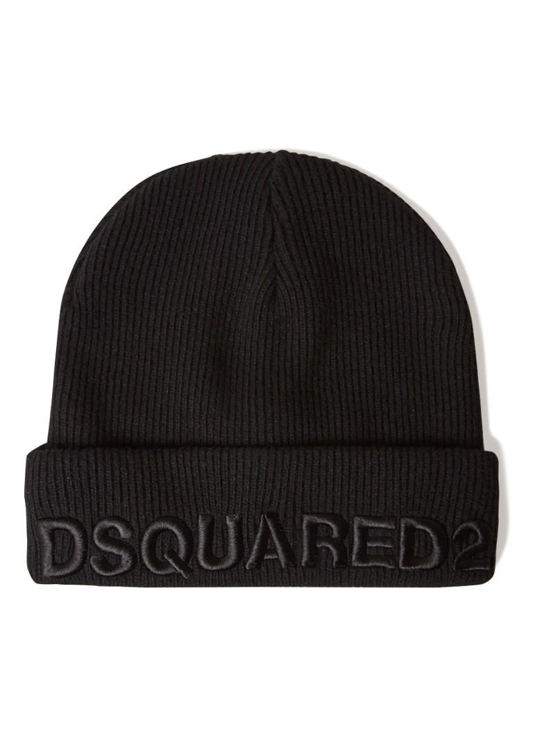 Image of Dsquared2 Muts in kasjmierblend met logoborduring
