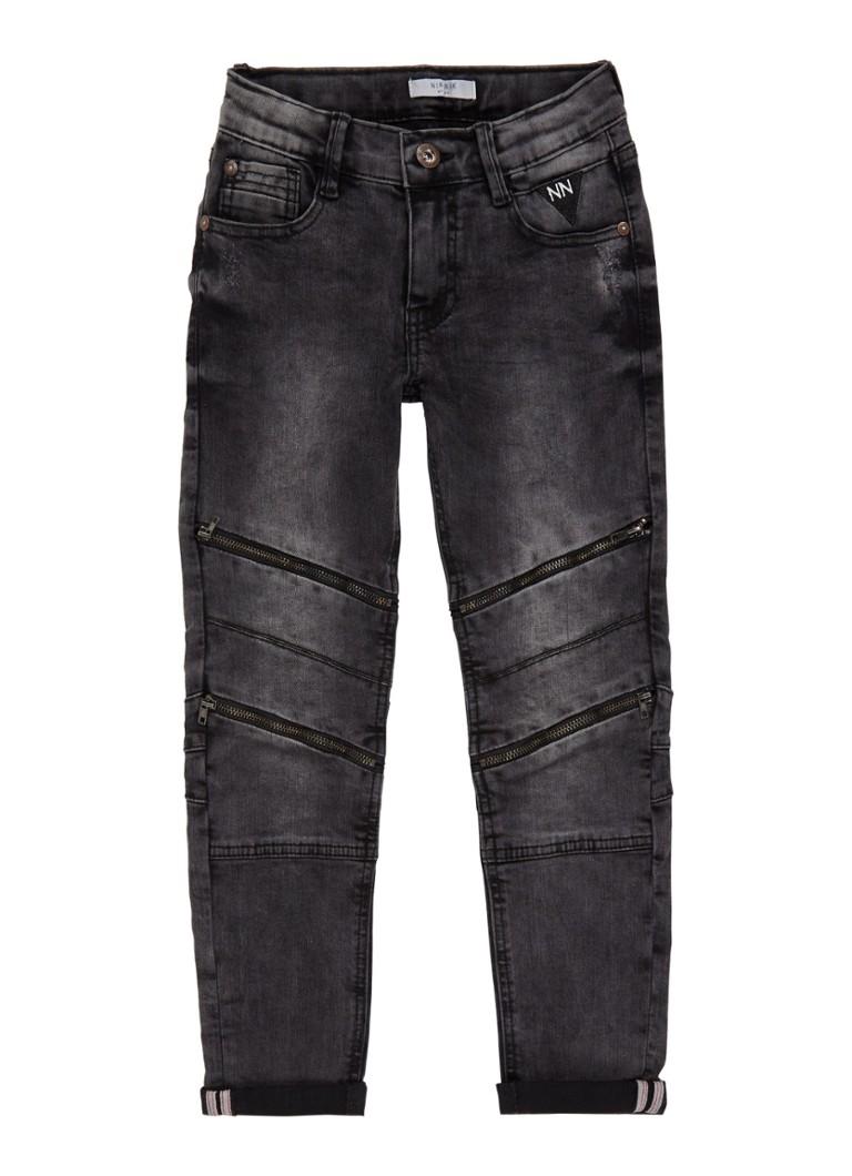 NIK and NIK Francis skinny jeans met biker look