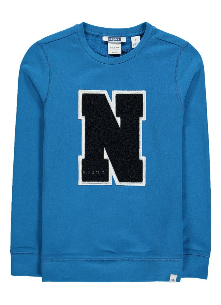 NIK and NIK Pascal sweater met logo applicatie