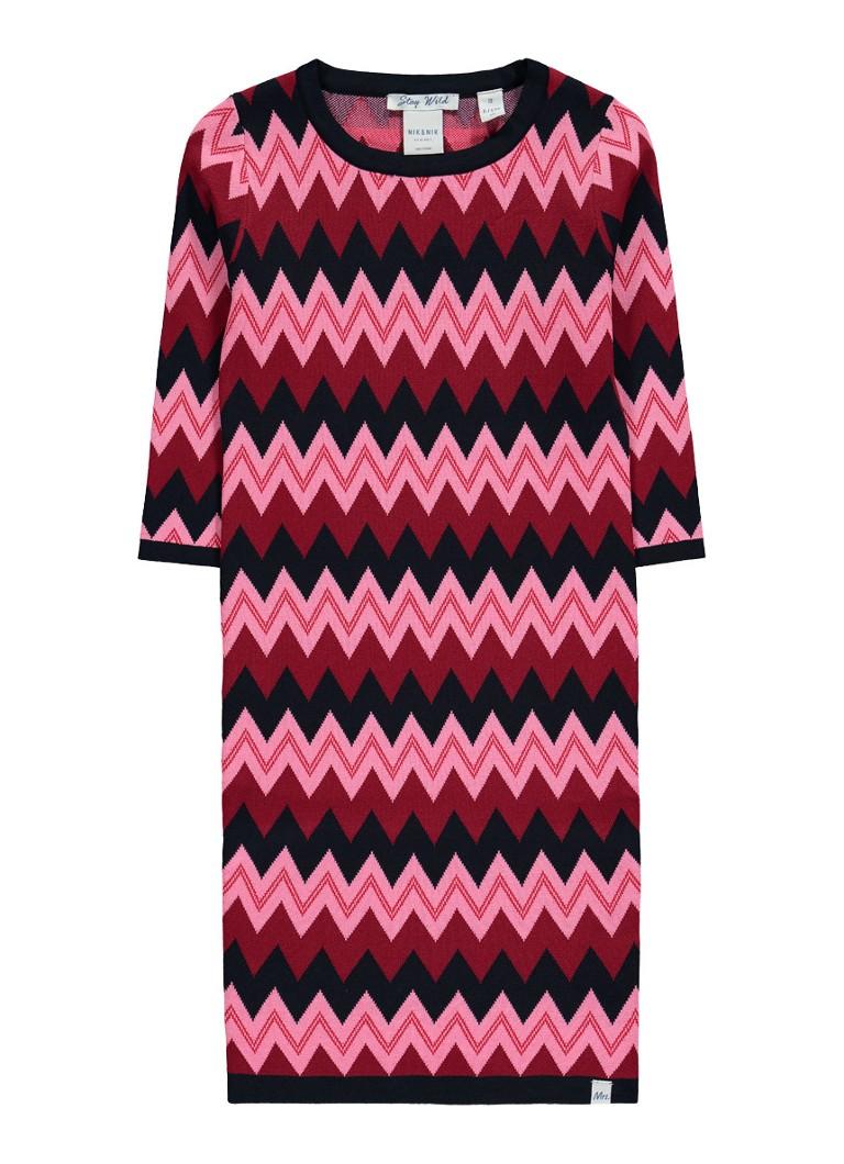 NIK and NIK Jolie jurk van jersey met zigzag dessin
