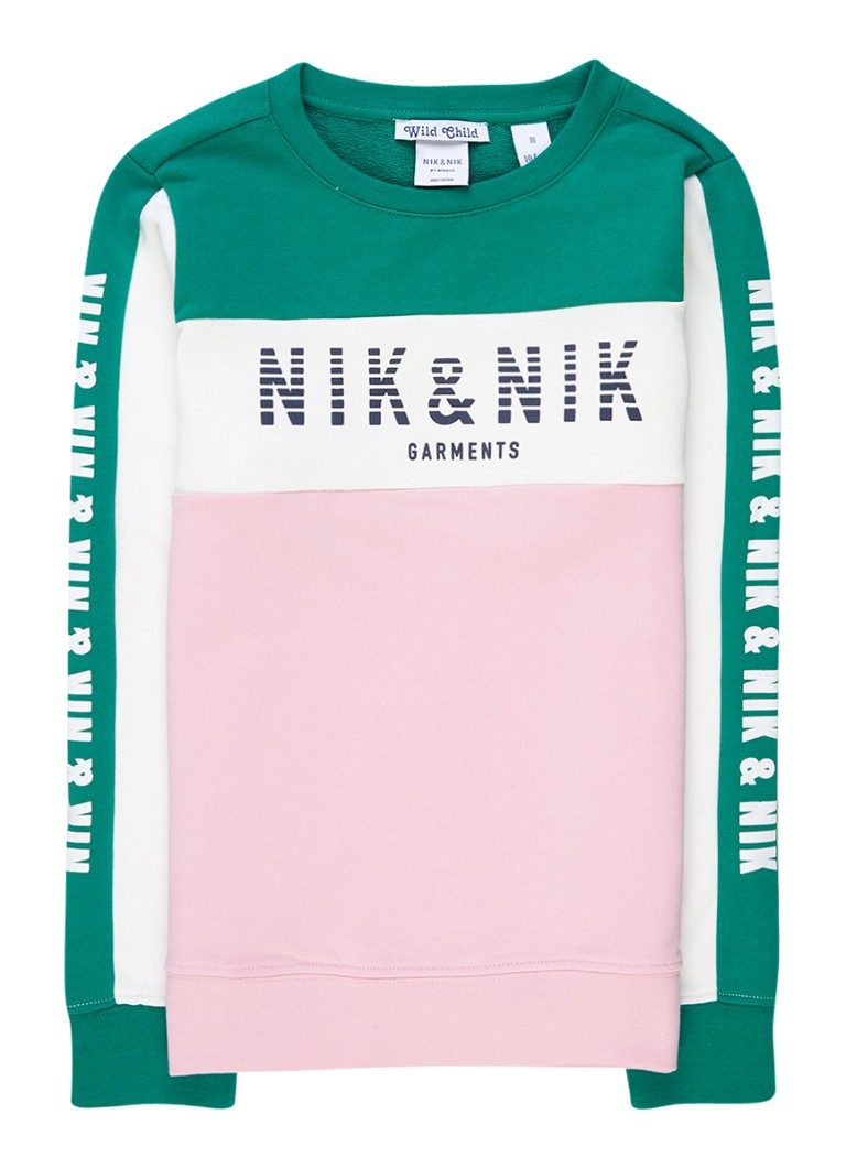 NIK and NIK Patrina sweater met logo