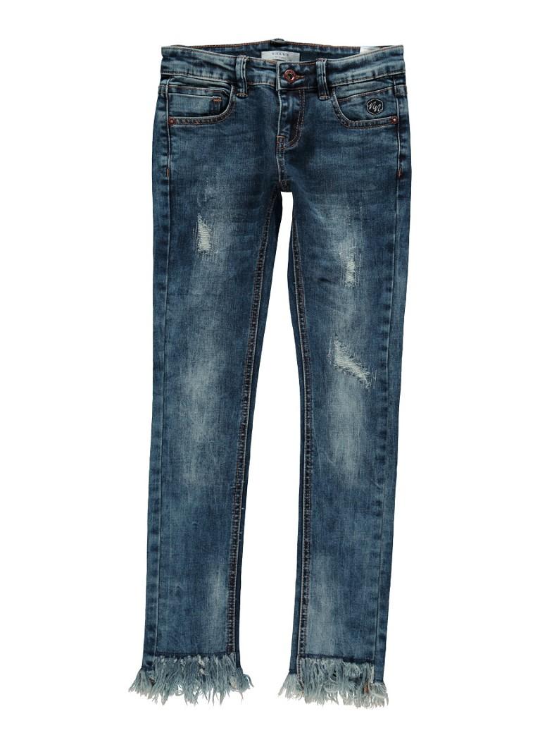 NIK and NIK Fiona skinny fit jeans met gerafelde zoom