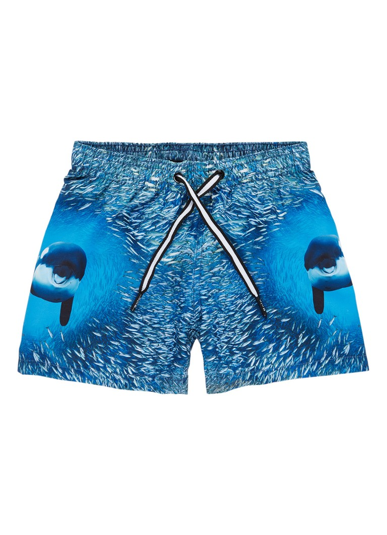 Molo Niko zwemshorts met vissenprint en UV-bescherming