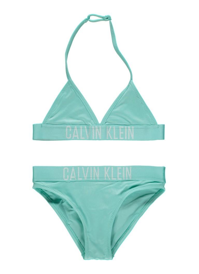 Calvin Klein Triangel bikini met merklogo