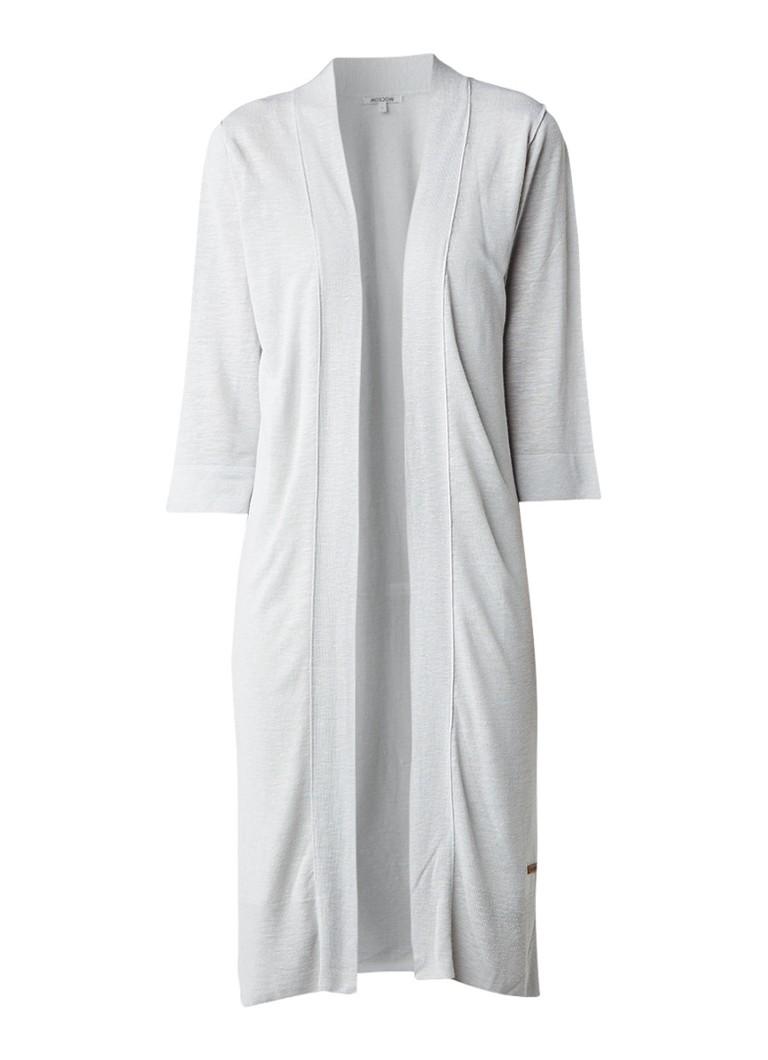 Moscow Lang vest in linnenblend met zijsplit grijs