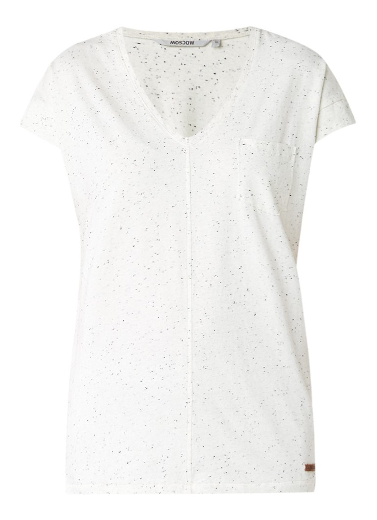 Moscow Gemêleerd T-shirt in katoenblend grijs