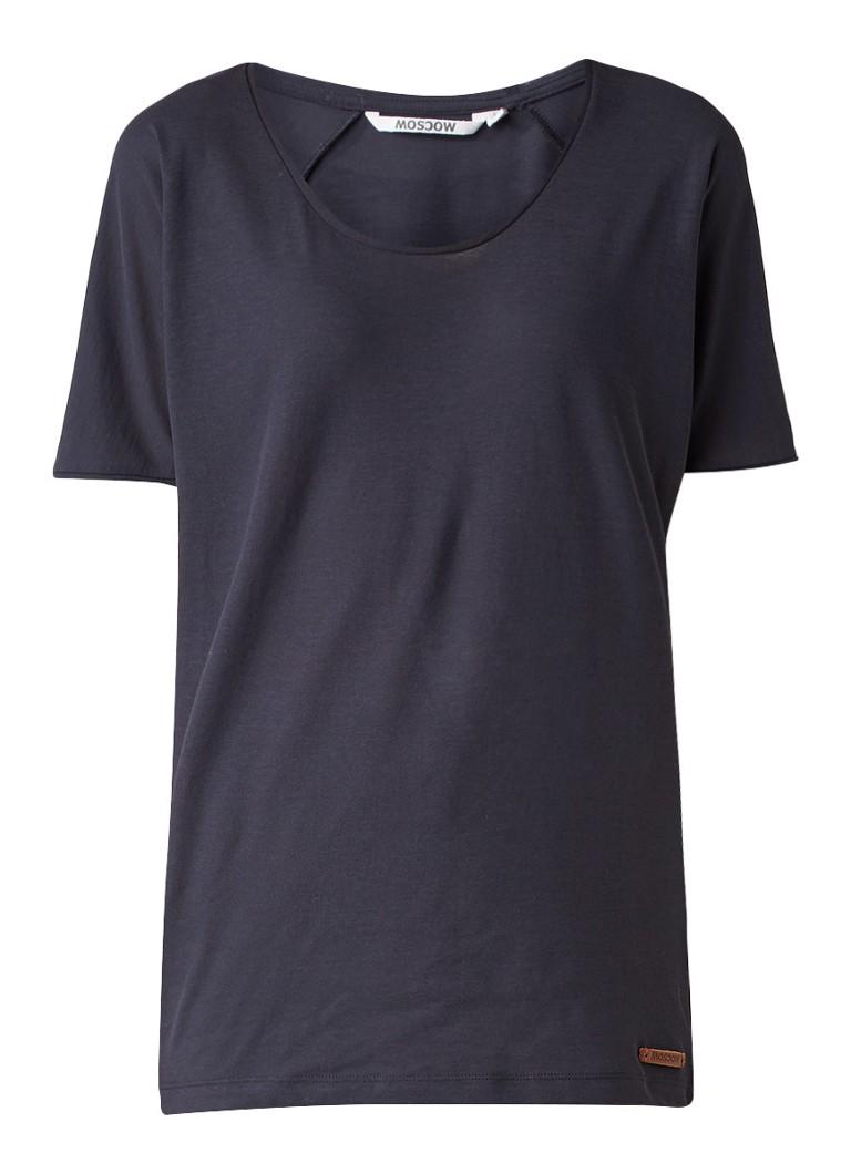 Moscow Loose fit T-shirt met ronde hals grijs